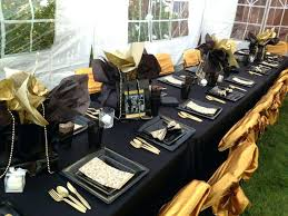black and gold centerpieces ideas full size of and gold birthday party decorations black and gold