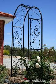 ornamental iron gates garden arches
