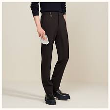 Pants In Saint Germain Fitted Pants With Leather Belt Loops
