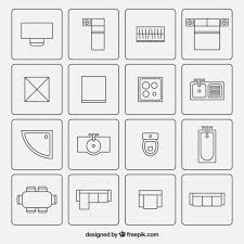 floor plan furniture symbols bedroom. Furniture Symbols Used In Architecture Plans Free Vector Floor Plan Bedroom E