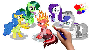 Small Picture Inside Out MLP Edition My Little Pony Coloring Book Coloring