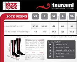 Elite Sports Size Chart Size Charts Tsunami Sport