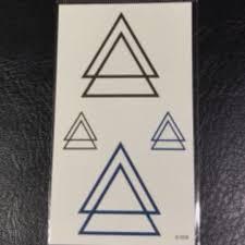 Overlapping Geometric Triangle Minimalist Temporary Tattoo Sticker