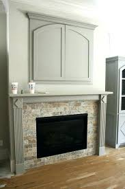 travertine tile fireplace designs