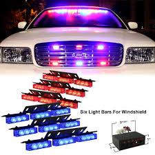 Purple Emergency Vehicle Lights Pacask 54 Led Warning Use Flashing Strobe Lights Emergency Vehicle Strobe Lights Bar For Windshield Dash Grille Red Blue