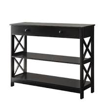 Black sofa table with drawers Shelf Quickview Black Joss Main Black Console Sofa Tables Joss Main