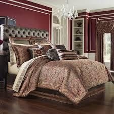 j queen new york bridgeport red bed sets