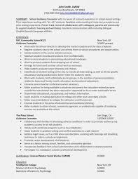 Sample School Counselor Resume Resume For Study