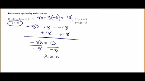 solving systems of equations by substitution you