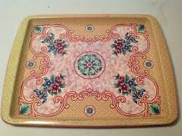 Daher Decorated Ware 11101 Tray VINTAGE DAHER Decorated Ware Small Tin Serving Tray 6060 PicClick 2
