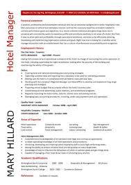 Sample Resume For Hotel Jobs Hotel Job Resume Resume Sample Hotel