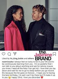 Who is cordae, naomi osaka's supportive. Tennis Star Naomi Osaka Pens Sweet Message To Boyfriend Ybn Cordae On His 23rd Birthday I Always Feel So Lucky To Be In Your Life Thejasminebrand