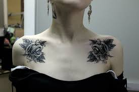 картинки по запросу тату на ключице All татуировка розы