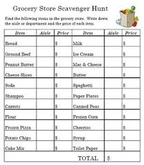 shopping list by department grocery store math tessa s world of math