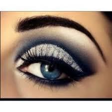 blue dress eye makeup photo 1
