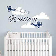 <b>Airplane Wall Decals Custom</b> Boys Name Personalized Name ...