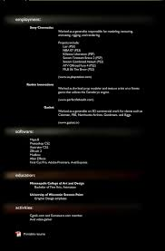 Best Designer Resumes Resume For Study 3d Artist Photo Examples