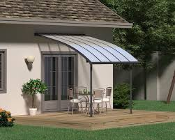 patio covers. Palram Joya™ Patio Cover 9.7x10 Grey Frame Clear Panels Patio Covers