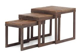Nesting Tables Amazoncom Zuo Modern Civic Center Nesting Tables Distressed