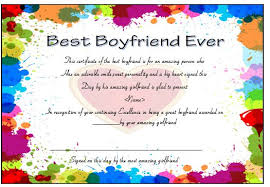 23 Best Boyfriend Certificates That Can Make Your Loved Ones Special