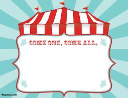 Carnival Birthday Invitations Free Printable Circus Birthday Invitations Template