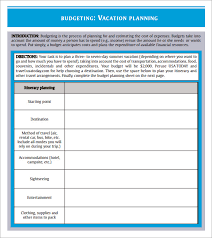 vacation budget planner sample travel budget template 6 free documents download in pdf