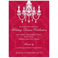 Chandelier Red Holiday Party Invitations Paperstyle