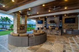 outdoor kitchen and fireplace omaha home romantic