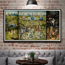 garden of earthly delights poster. Artwork Painting The Garden Of Earthly Delights Hieronymus Bosch Silk Poster Decor 12x23 14x27 18x35 24x46 K