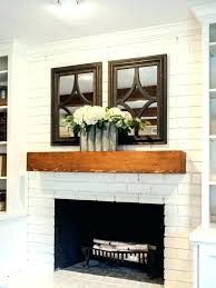 white mantle brick fireplace with wood update ideas on stone how to a before after firepla