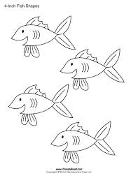 Quality Free Fish Templates Printable Fins Worksheet 891