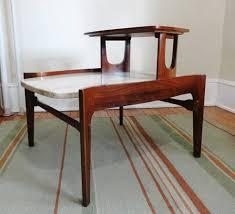 walnut end table. Mid Century Modern Bertha Schaefer Travertine Marble Walnut End Table O