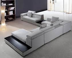 microfiber contemporary sectional sofa set l