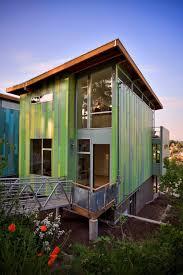 Garden design on eco friendly houses