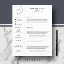 R17 Sophia Keys Professional Resume Template For Word Pages Minimalist Cv Resume Design Matching Cover Letter References Resume Writing