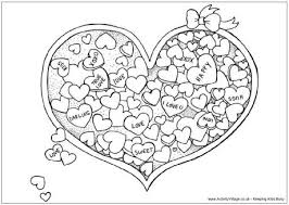 Small Picture Valentines Day Heart Candy Coloring Page Adult Coloring Pages