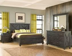 Rustic Black Bedroom Furniture Vantage Wood Back Bed Rustic Black Apt2b