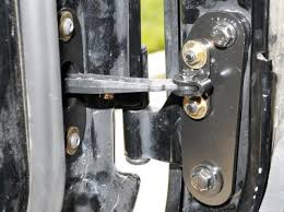 since the check strap arm allows the door to open further than it did before the limiting strap must be extended using the provided limiting strap
