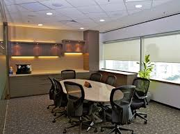 workplace office decorating ideas. Ideas, Meeting Room Chair Desk Plant Cabinet Wood Warm Light Lamp Carpet Office Decoration Workplace Decorating Ideas N