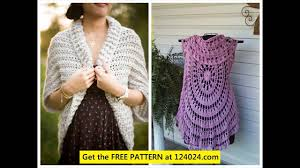 Crochet Circular Vest Pattern Free Awesome Crochet Circular Vest Pattern YouTube