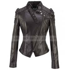 puff sleeve cropped black leather jacket women zoom puff