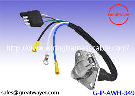 ul 1015 10awg trailer wiring harness female 4 way flat truck
