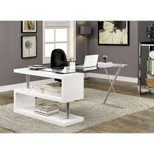 contemporary wood office furniture. Bronwen Contemporary White Finish Metal Wood Desk Office Furniture