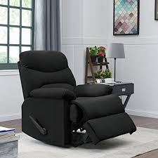 amazon prolounger wall hugger recliner chair in black microfiber kitchen dining