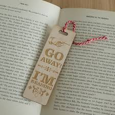 Funny Quotes About Reading Funny Go Away Im Reading Quote Wooden Bookmark Laser Engraved L197 Ebay