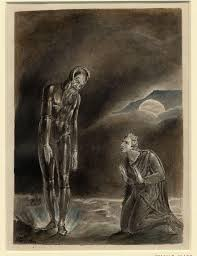william blake s beautiful shakespeare paintings brutus and the ghost of julius caesar is another haunting shakespearean scene from blake 1806