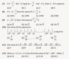 algebra practice questions for ssc cgl