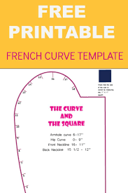 Designers Neckline Curve French Curve Printable Template Diy Sewing Projects