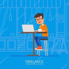 design an office online. Freelance Concept Vector Illustration In Flat Style Design. Home Office Workplace. Online Shopping \u2014 Вектор от Skypistudio Design An