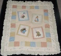 Peter Rabbit Quilt Baby Blanket Comforter Applique Embroidery ... & Image is loading Peter-Rabbit-Quilt-Baby-Blanket -Comforter-Applique-Embroidery- Adamdwight.com